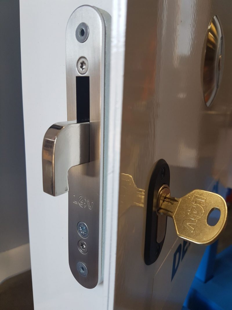 Highly visible our deadlocks work with the manufacturers locking system. Full control from the driver each door can be isolated & secure within seconds.
