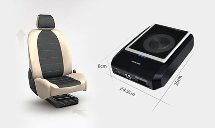 Alpine PWD-X5 Underseat Subwoofer with DSP best car audio nottingham derby