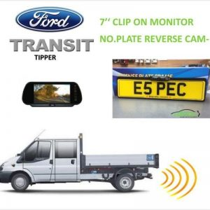 Ford Transit Tipper No.plate Reverse Camera & Monitor Package