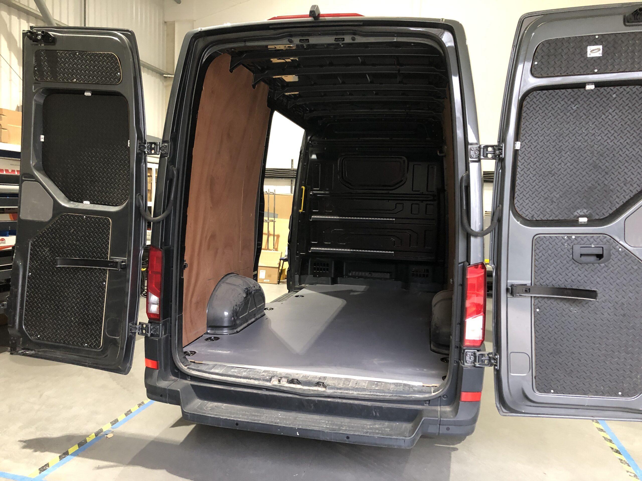 Volkswagen Crafter Carpet Lined & with Sortimo Van Racking